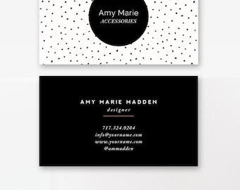 Moo business card etsy business card template photoshop templates polka dot digital photoshop design for millers lab flashek Images