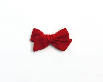 Red Mini Knotted Bow