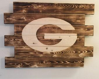 University of Georgia Bulldogs wood sign