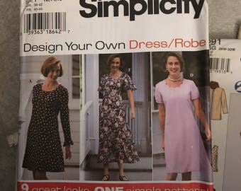 Simplicity Design Your Own Dress / Robe Size 6 8 10