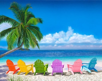 Nice Emejing Colorful Adirondack Chairs On Beach Gallery   Liltigertoo .