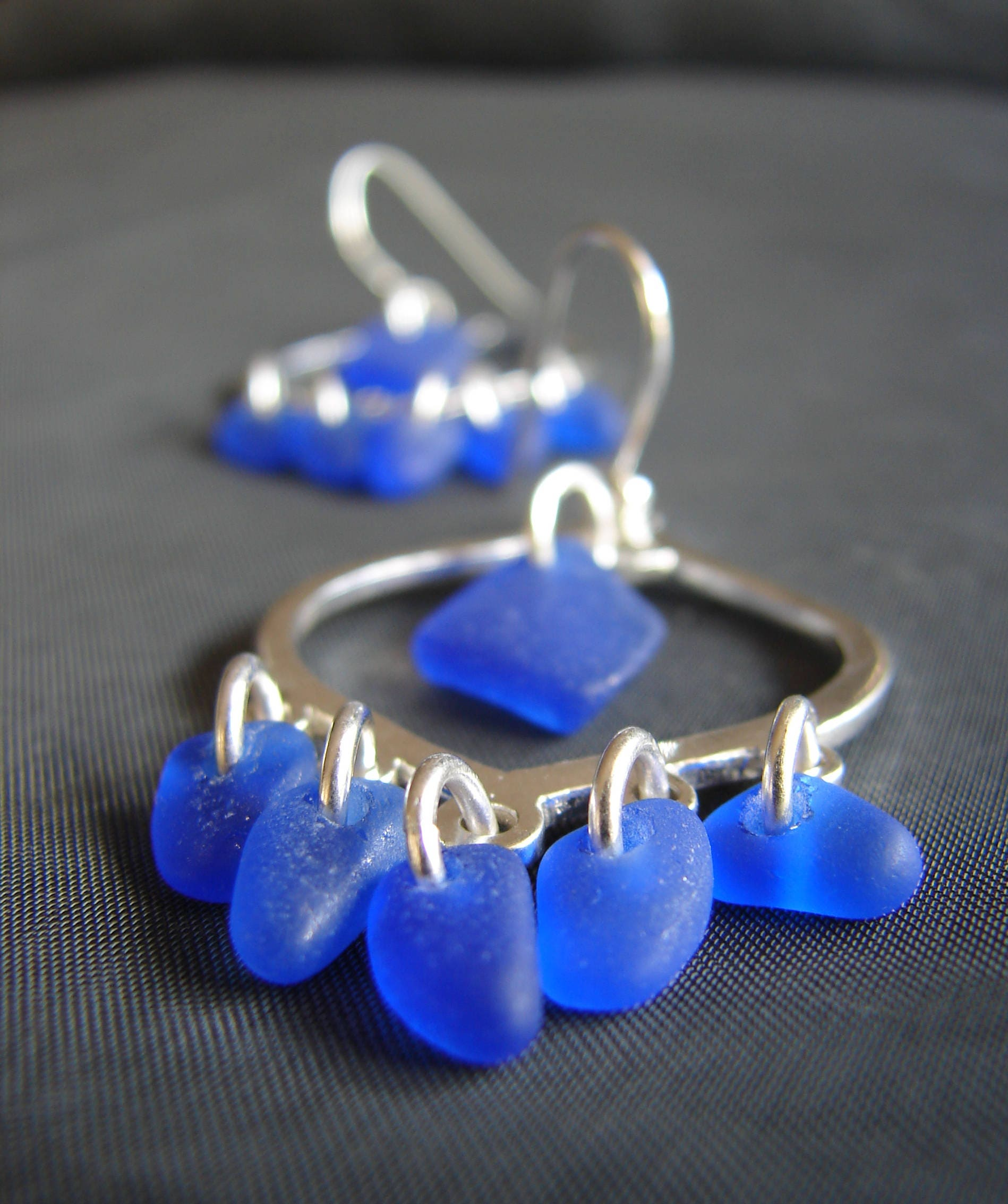 of silver glass blue cobalt claudette murano ellipse claudetteworters worters original by with earrings product