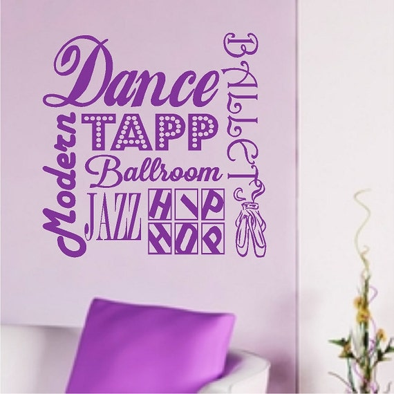 Exceptional Dance Wall Quotes Ballet Words Removable Dancing Wall Decals