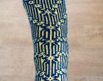 Hand Knitted Merino Sock - Spring Bloom