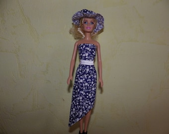 dress with hat for doll