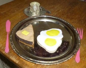 Felt Eggs and Toast Breakfast Play Food Handmade