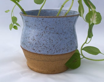 Icy blue planter