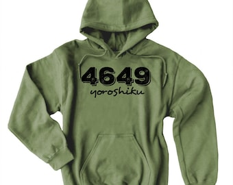 Yoroshiku Hoodie 4649 Japanese sweatshirt Japanese slang phrase geek hoodie anime otaku
