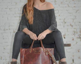 No. 10 Mahogany Shoulder Bag