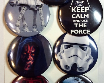 Star Wars Siths fridge magnet set. Siths badges. Star Wars badges, buttons