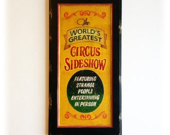 Circus Sideshow Old Time poster sign