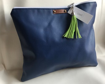 SALE! Navy Blue Oversized Clutch