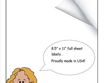 Full Sheet Labels 8.5 X 11 Blank White Full Sheet Labels For Sticker Crafts,Scrapbooks, Shipping Pack of 600 Full Sheets Labels
