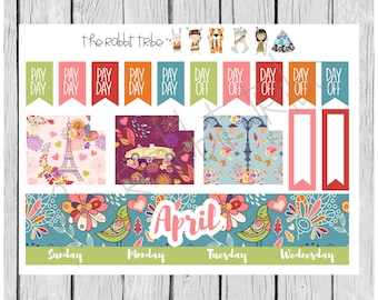 Freestyle Planning - April Monthly Kit - planner stickers