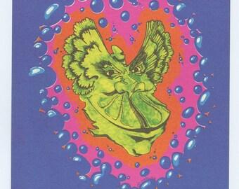 Grande Ballroom Postcard 1968 Oct 25 Procol Harum Wilson Mower Pursuit