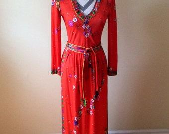 Vintage 1970's three piece dress/ Connie Rizza Dress
