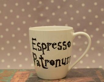 Espresso Patronum - Harry Potter Mug - Choice of with or without The Grim inside