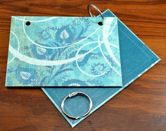 COVER and RINGS ONLY, 3 x 5 index card binder, clearance sale, notes, recipe card holder, mini journal, flashcards