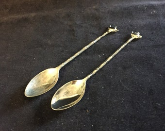 Vintage Silverplate Teapot Spoons
