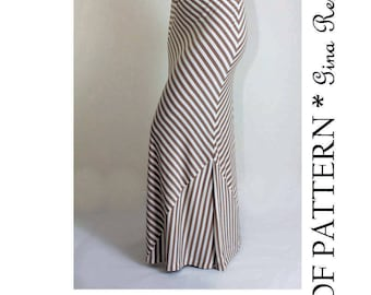 Maxi Skirt Pattern. Womens Skirt Sewing Pattern. Maxi Skirt Sewing Pattern.