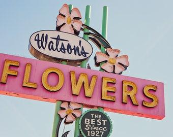 Watson's Neon Sign Print | Pink Wall Art | Neon Sign Art | Mesa Arizona Photography | Pink Print | Gifts for Mom | Mesa AZ | Gifts for Her