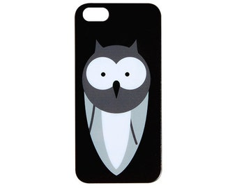 NEW Chalkboard Design Wide-eyed Owl Phone Case fits iPhone 6 (4.7) / 5c / 5s / 5 / 4s / 4 Black & White Trendy Snap On Cover  c190