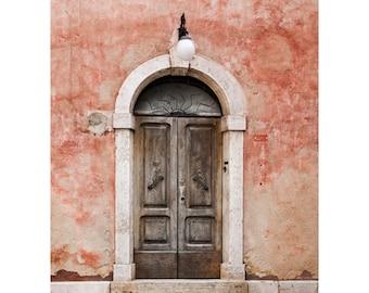 Serra di Rapolono Doorway Fine Art Photography Italian architecture Ancient worn weathered Tuscan decor rustic style home decor faded rose