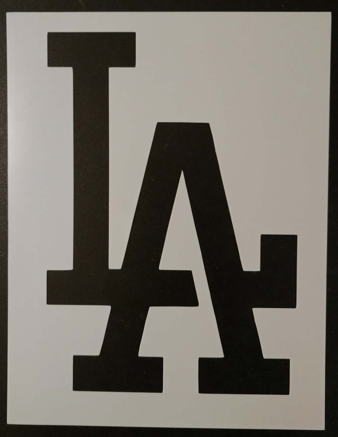La la dodgers los angeles custom stencil fast free shipping from 1172 buycottarizona Image collections