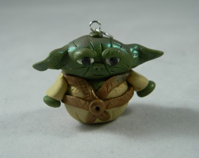 Polymer Clay Alien Pendant Yoda Chewbacca, Jawa, Han and Leia
