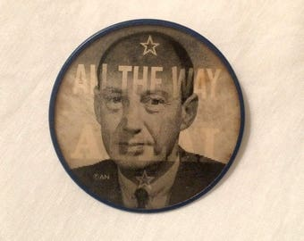 1950s Flasher Pinback Adlai Stevenson - All The Way With Adlai - Vintage Political Collectible