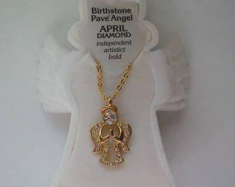 Birthstone Angel Pendant for Christmas Holidays - 5647