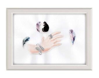 Plumes - Luxury inspiration - aquarelle/watercolor
