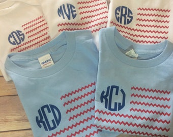 Youth 4th of July Shirt - Youth American Flag Shirt - Youth 4th of July T-Shirt - Youth Monogram Shirt - American Flag Monogram