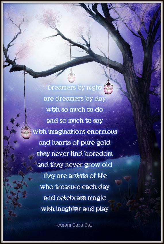 Dream Big Purple Decor Child Decor Enchanted Forest Wall