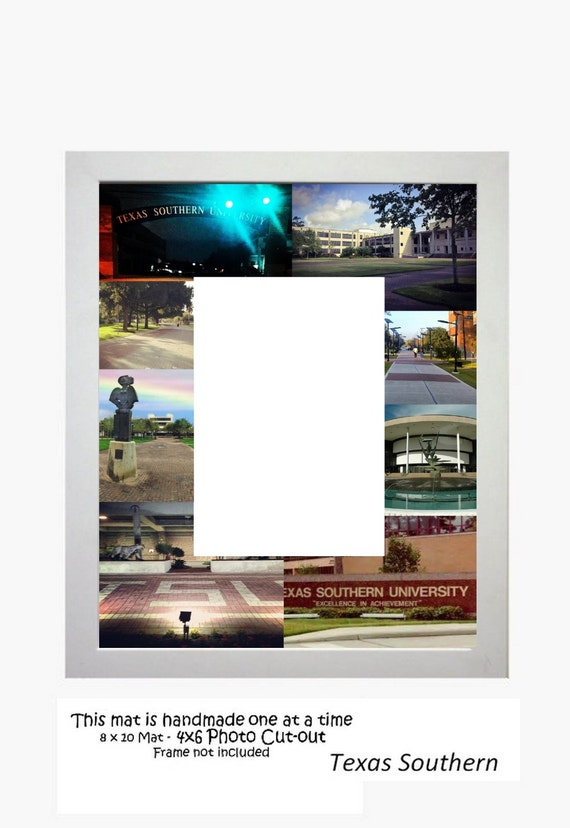Texas Southern University Picture Frame Photo Mat Personalized