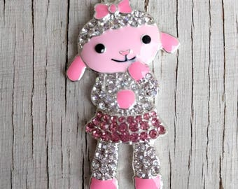 Lovely lamb inspired chunky Rhinestone pendant for necklaces chunky necklace jewelry chunky gumball necklace wholesale supplies bubblegum