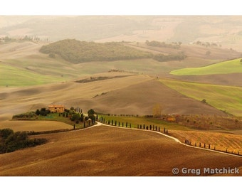 "Fine Art Color Landscape Photography of Tuscany - ""Val d'Orcia Patterns"""