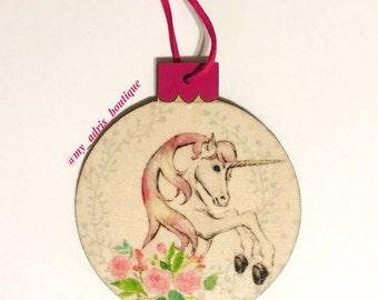 Unicorn Christmas Ornaments