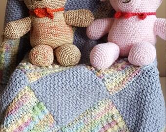 Crochet Pattern for Baby Boy blanket, toddler bedding