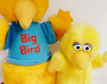 PLUSH- Sesame Street BIG BIRD, Set of 2