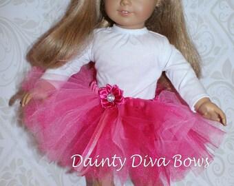 "18"" Doll Tutu and Matching Headband - Doll Tutu - Doll Clothes - 7 Colors - Elastic Headband - Birthday Gift - Christmas Gift"