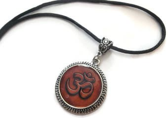 OM Necklace, Reiki Necklace, Yoga Pendant Necklace, OHM Spiritual Jewelry, Aromatherapy Necklace, Diffuser Jewelry, Spiritual Unique Gifts