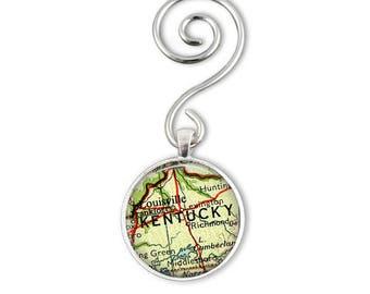 Kentucky Ornament, Horse lovers gift, Lexington kentucky gifts, Lexington Map Ornament, Louisville ornament, Thoroughbred racing gift