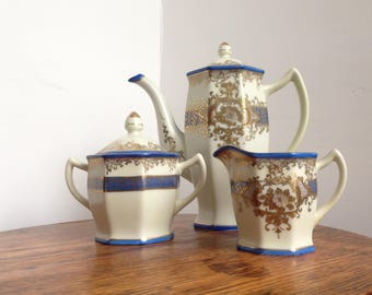 Beautifully hand painted Meito china coffee set