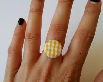 Ring round ♥ ♥ yellow gingham fabric