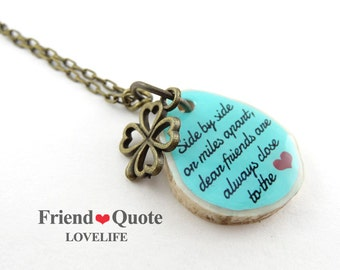 Bff Necklace 2 Best Friends Necklace Bestfriend Birthday Gift