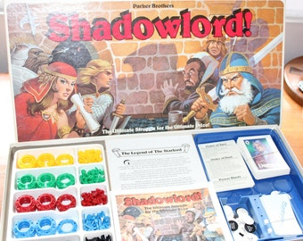 Parker Brothers Shadowlord Board Game -- Missing Dice -- Strategy, Space, Role Play -- 1983
