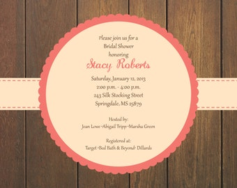 Country Bridal Shower Invitation: Printable