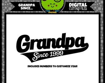 Father's Day svg  Grandpa svg  Grandpa Since svg  Fathers Day svg  File for Cricut  Silhouette File  Grandfather svg  svg file