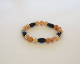 Carnelian and Bone Bracelet
